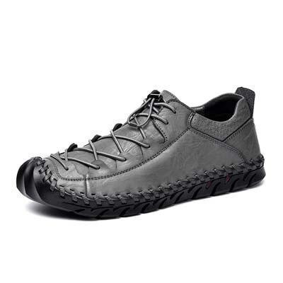 Men Casual Shoes Lace Up Split Leather Shoes Men Fashion Shoes Flat Outdoor Shoe
