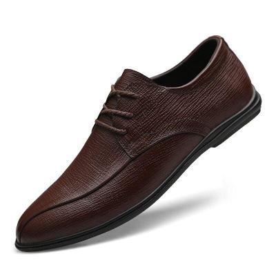 Man Shoes Genuine Leather Dress Shoe Autumn Men's Leather Footwear Derby Oxfords Design Handmade
