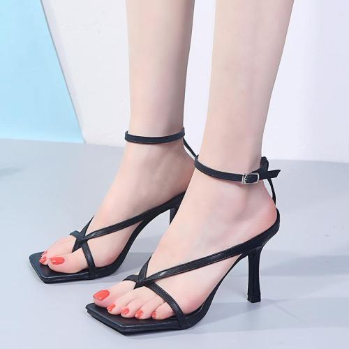 Woman Ankle Strap Sandalias Pumps Sexy Ladies High Heels Gladiator Sandals Summer Stiletto Heel Party Wedding Shoes