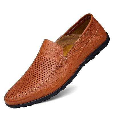 Man Shoes Slip on Summer Men's Boat Shoe Genuine Leather Loafers Flats Male Breathable Handmade Casual Footwear