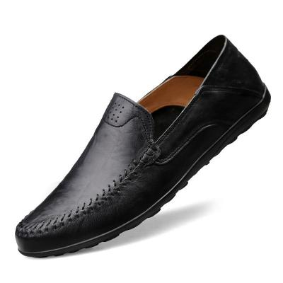 Genuine Leather Men Shoes Luxury Brand Casual Slip on Formal Loafers Men