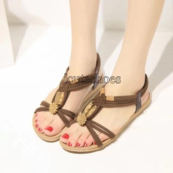 Women Sandals Vintage Summer Women Shoes Gladiator Sandals for Women Beach Shoes