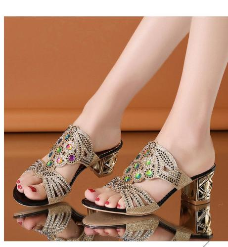 Beach Sandals Chunky Heel Women Sandals Fashion Slippers for Women