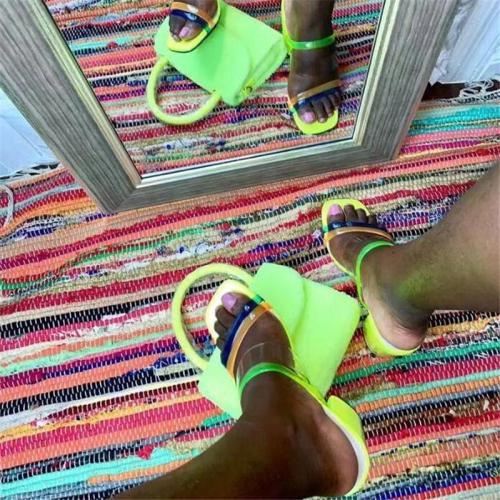 Chunky Heel Slip-On Flip Flop Casual Summer Slippers