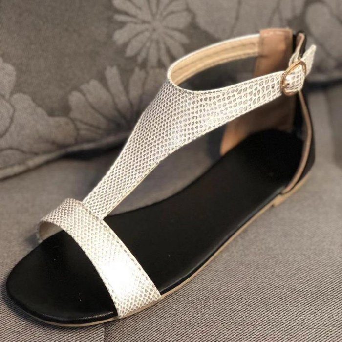 Ladies Shoes Open Toe Breathable Beach Buckle Strap Sandals Rome Casual Flat Shoes