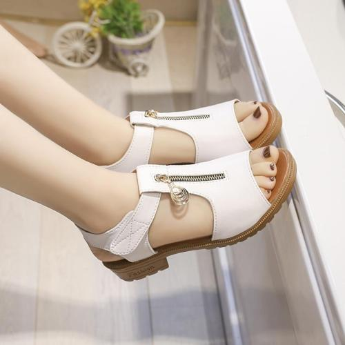 Hot Sale Leisure Sandals Women Shoes Fashion Gladiator Walking Rome Zipper Vacation Beach Sandals Women Summer Shoes