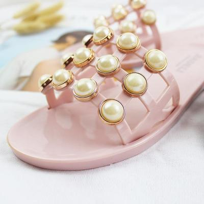 Slippers Women Summer String Bead Beach Shoes Slip On Flat Sandals Slides Sandals