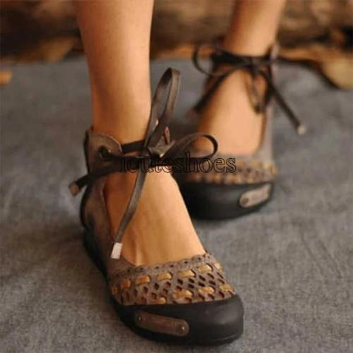 Flat Sandal Women Summer Lace Up Sandals Female Casual Shoes
