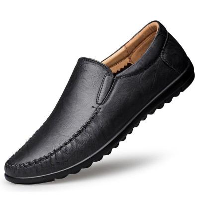 Mens Moccasins Genuine Leather Man Shoes Slip on Boat Shoe Summer Autumn Male Loafers Flats Leisure Footwear