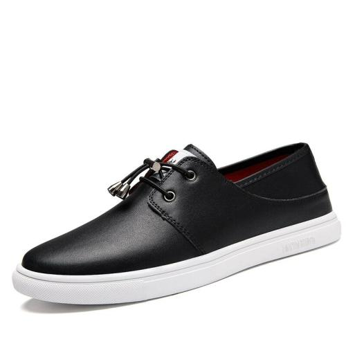 Mens Leather Shoes Fashion Casual Footwear Man Shoe White Black Leisure Sneakers Summer Autumn