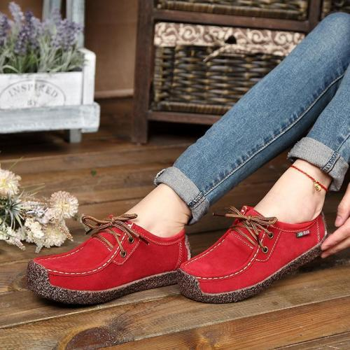 Women's Fashion Antiskid Lacing Flat Shoes