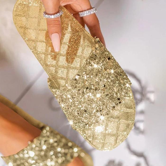 See-Through Flip Flop Flat With Slip-On Slippers
