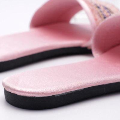 Women Silk Slippers Summer Indoor Wedding Shoes Woman Fashion Slides