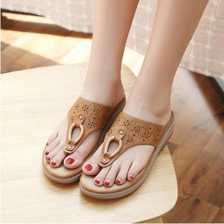 Summer Women Flat Platform Shoes Women Beach Slippers