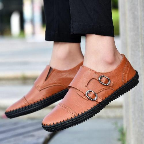 New Fashion Leather Men Shoes Casual Flat Men Shoes Breathable Loafers