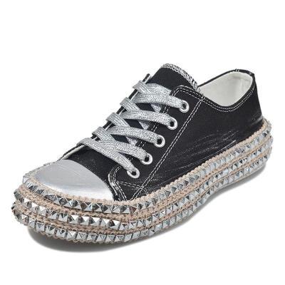 Women's Leopard Rivets Sneakers