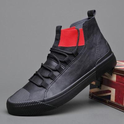 2020 Autumn New Men's Fashion Boots Black High Top Shoes Loafers Designer Leisure Vulcanized Shoes