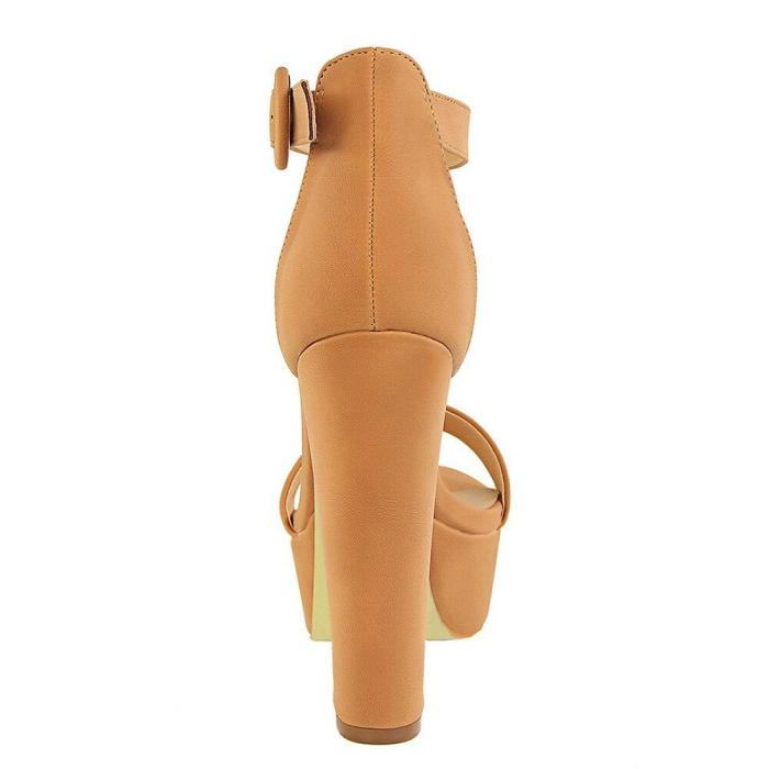 Women Classic High Heels Fetish Suede Platform Sandals Female Chunky Summer Shoes Lady Sexy