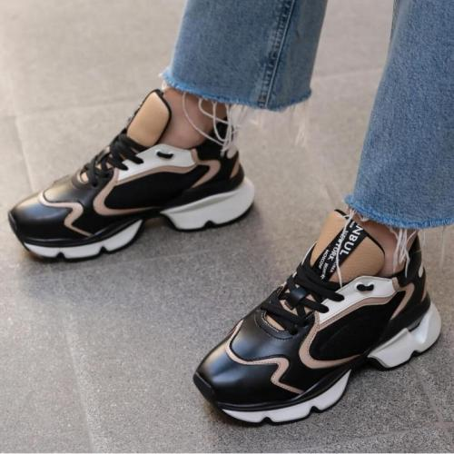 Black Sneaker New Fashion Sport Outdoor Running Sneakers Womens Shoes Walking Jogging Shoes