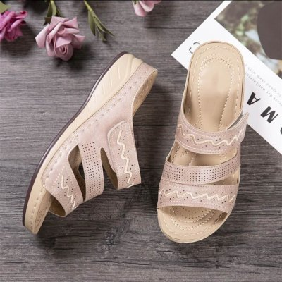 Fashion Wedges Shoes for Women Slippers Shoes with Heels Sandals Flip Flops Women Beach