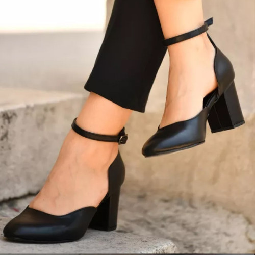 Black Brief High-Heeled Shoes Flock Sandals Square High Heels Pointed Toe Fashion Summer Women Shoes