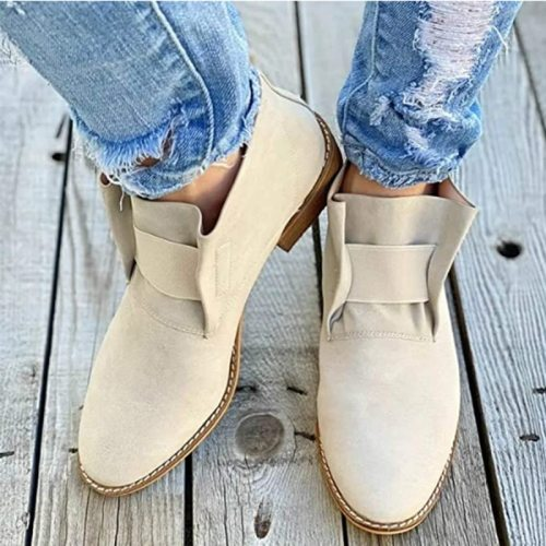 Woman Vintage Ankle Boots Snake Pattern Women Low Heels Women's Casual Elastic Band Shoes Ladies 2020 Autumn Female Plus Size
