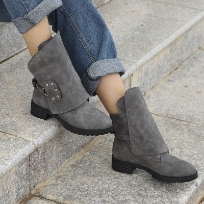 Women Ankle Booties Leather Knight Ladies  Boots Cowboy Shoes