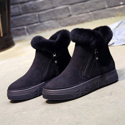 Ankle Boots Female Snow Boot Sneakers Casual Flat Shoes Woman Footwear