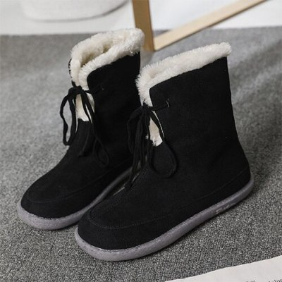 Women Snow Boots Winter Warm Plush Boots Woman Ankle Boots Ladies Flats Female Fashion Comfort Shoes Women's Casual Footwear