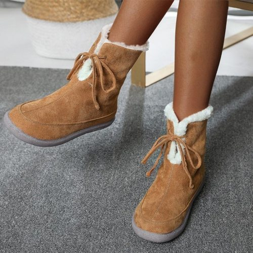 Women Snow Boots Ankle Boots Ladies Flats Female Fashion Comfort Shoes