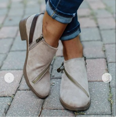 2020 New Snow Boots Women High Quality Bucket Zipper Thick Boots Female Shoes Fashion Cow Suede Ankle Boots Women