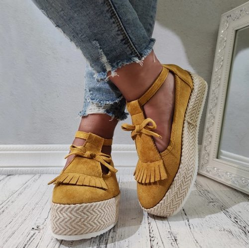 Women Summer Sandals Back Strap Buckle Platform Wedges Mid Heel Increasing Height Fashion Beach Ladies Shoes