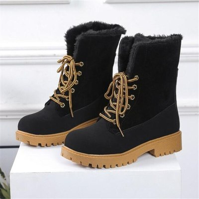 2020 New Winter Women Boots Snow Boots Genuine Leather Fur Warm Plush Winter Boots Shoes Woman Ladies Shoes Botas