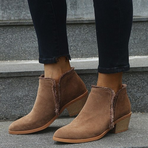 Winter Women Boots Ankle Boots Heel Booties Fahsion Boots