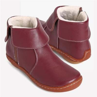 Comfy Keep Warm Casual Ankle Short Boots Zipper Soft Comfy PU Leather