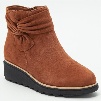 Women Boots Solid Suede Wedges ankle Boots Fashion Boots Platform
