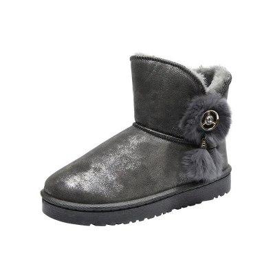 Women Snow Boots Warm Soft Ladies Ankle Fur Boot Winter Platform Female