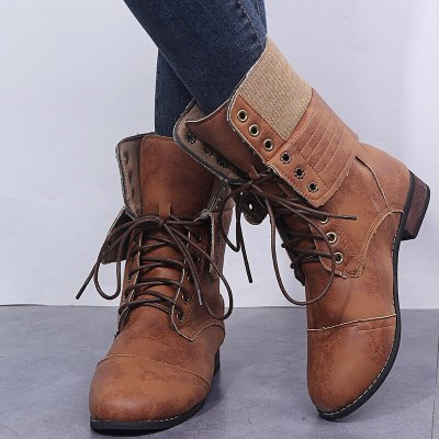 2020 Winter New Snow Boots Women's Boots Women Casual Shoes Women Warm boots Round Toe Slip-On Square Heels Vintage Shoes