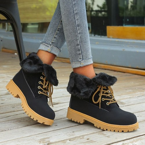 2020 New Winter Women Boots Snow Boots Genuine Leather Fur Warm Plush Winter Boots Shoes Woman Ladies Shoes Botas
