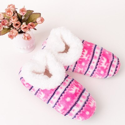 Female Slippers 2020 sewing mixed colors Socks slippers women home slipper winter indoor warm Casual floor shoes
