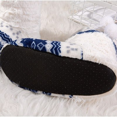Winter Floor Shoes Woman bedroom Slippers Christmas Indoor Socks Shoes Warm Fur Slipper Plush Insole Anti-Skid Sole
