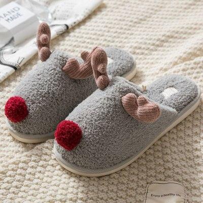 Women's Slippers Cartoon bedroom Home slippers for women Wear-resistant Slippers Non Slip Female flat fur Shoes