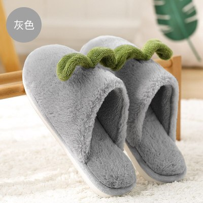 New Warm Cute Winter Woman Slippers Home comfortable Woman Flats Plus Size bedroom couple shoes Woman plush shoes