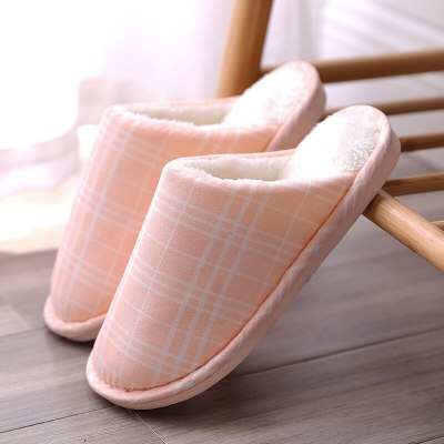 Winter Women's furry Slippers for Home Gingham bedroom Plush Slippers Suede Soft Slippers Non-slip Women Shoes 2020