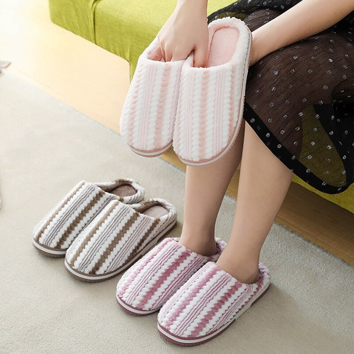 big size women winter Slippers plush flat shoes warm Non-slip House slippers Comfortable couple shoes 2020 new