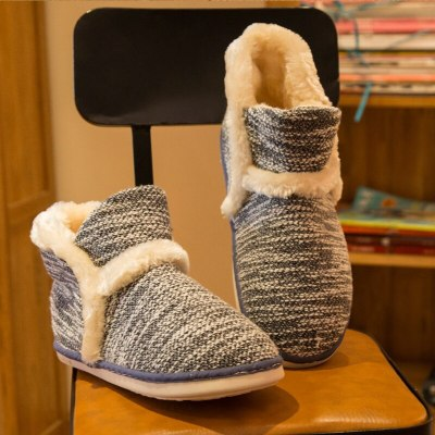 Retro Home Slippers Woman Winter Warm shoes for women fluffy slippers Soft comfortable House slippers outdoor casual shoes