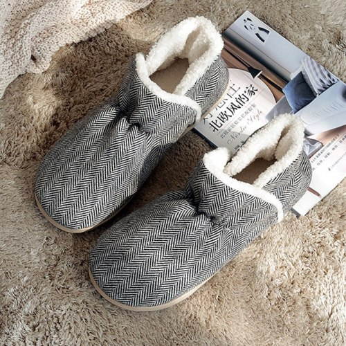 Big size Women Winter plush Slippers female indoor Shoes Non-slip Soft home Warm House Slippers Bedroom Floor Shoes