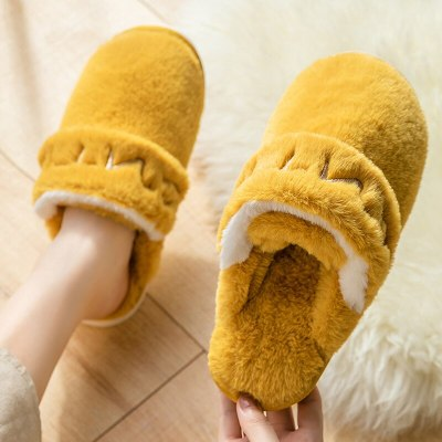 Home couple shoes fashion sewing letter Bandage female slippers Memory foam soft furry slippers Warm winter shoes for girls 2020