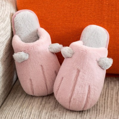 Winter Women Slippers Cat's Claw Thick Velvet Slippers New Soft Women Cotton Warm
