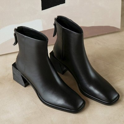 Women Ankle Boots Comfortable Classic Fashion PU Leather Short Boot